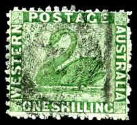 Lot 3120:1864-79 Wmk Crown/CC Perf 12½ SG #61 1/- bright green.