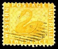 Lot 3121:1882-85 Wmk Crown/CA (Sideways) Perf 12 SG #83 2d chrome-yellow.