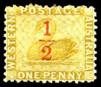 Lot 3503:1884 Surcharges SG #90 '½' on 1d yellow-ochre.