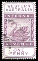 Lot 18230:1893 Long Type Wmk Crown/CA F11 1d.