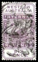 Lot 18237:1893 Long Types Wmk Crown/CA SG #F14 6d dull purple.