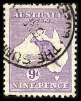 Lot 196:9d Violet BW #28 small perf faults
