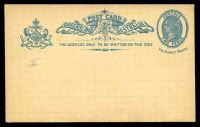 Lot 1515:1889-91 QV Oval Sideface HG #5 2d blue with dots for address line.