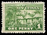 Lot 4036:1925-28 Huts SG #126 1d green.