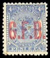 Lot 28886:1893 G.F.B. Ovpts: SG #O3 4d pale ultramarine, no gum.