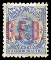 Lot 28887:1893 G.F.B. Ovpts: SG #O4 8d pale ultramarine, no gum.