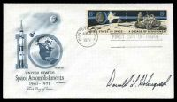 Lot 29330:1971 Lunar FDC illustrated cover signed by Astronaut Donald Holmquest.