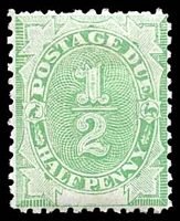 Lot 3804:1902 Converted NSW Plates BW #D1 ½d emerald-green.