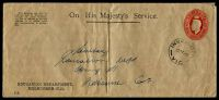 Lot 3307:1941-50 2½d Red KGVI Oval BW #ES86 on long buff OHMS envelope for the Education Department Melbourne, used in 1949.