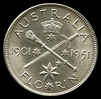 Lot 146 [1 of 2]:Australia: 1951 2/- Federation Commemorative.