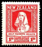 Lot 3968:1930 Health SG #545 1d+1d scarlet.