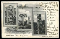 Lot 415 [1 of 2]:Canada: black & white PPC 'Indian Totem Poles', early card with undivided back used in 1905.
