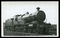 Lot 572:Railways: Black & white PPC of Steam Train & tender, real photo.