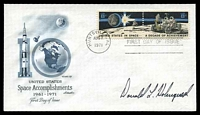 Lot 4771:1971 Lunar FDC illustrated cover signed by Astronaut Donald Holmquest.