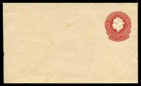 Lot 811:1953-56 3½d Red QEII Large Die BW #EP51 on buff, Cat $10, tone spots, unused.