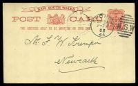 Lot 5161:1897 3rd Line Sans-Serif Letters HG #19 1d Arms used to Newcastle in 1903.