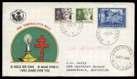 Lot 18002 [2 of 2]:1954 Tuberculosis set tied to two illustrated FDCs by Bruxelles cds 1 12 54.
