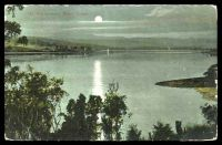 Lot 82 [1 of 2]:Australia - Tasmania: multi-coloured PPC 'At Windermere River Tamar', unusual nighttime scene.