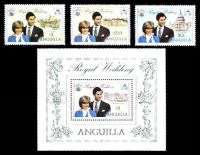 Lot 17511:1981 Royal Wedding SG #464-7 Prince Charles & Dianna set plus $5 M/S