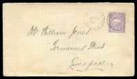 Lot 5256 [1 of 2]:1894 local cover to Liverpool with 1d Centennial tied by Liverpool cds JU 12 1894.