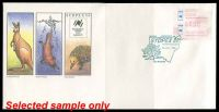 Lot 770:1988 Sydpex Exhibition set of nine covers with 50c Sydpex frama tied to illustrated covers by appropiate daily Commerative cancels, all unaddressed. (9)