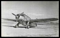 Lot 294 [1 of 2]:Aircraft: Black & white PPC 'North American O-47', real photo.
