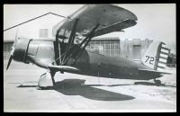 Lot 293 [1 of 2]:Aircraft: Black & white PPC Bi-Plane 'Curtiss Raven', real photo.
