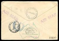 Lot 867 [2 of 2]:1952 Australia - Mauritius AAMC #1308a illustrated Qantas Boomerang cover.
