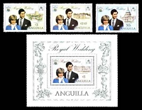 Lot 3639:1981 Royal Wedding SG #464-7 Prince Charles & Dianna set plus $5 M/S