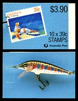 Lot 3728:1989 $3.90 Fishing BW #B163 $3.90 Leigh-Mardon full perf CPL paper, Cat $12.