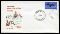 Lot 4068:Royal 1966 4c Life Saving on illustrated cover by Lower Mitcham cds 6JY66, unaddressed.