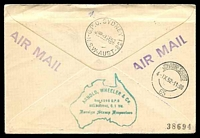 Lot 1138 [2 of 2]:1952 Australia - South Africa AAMC #1307 illustrated Qantas Boomerang cover.