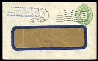Lot 3641:1928-37 1d Green KGV Oval BW #ES64 on window envelope, used in 1930.