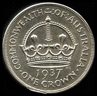 Lot 14 [1 of 2]:Australia: 1937 Crown, edge ding otherwise unc.