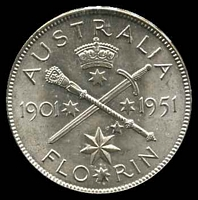 Lot 23 [1 of 2]:Australia: 1951 Federation Florin.