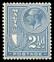 Lot 4322:1926-27 KGV Inscribed Postage SG #162 2½d blue