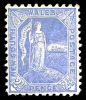Lot 694:1890 Allegorical SG #265 2½d ultramarine P11x12, Cat £18.