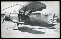 Lot 274 [1 of 2]:Aircraft: Black & white PPC Bi-Plane 'Curtiss Raven', real photo.
