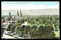 Lot 44:Australia - South Australia: multi-coloured PPC 'St Peter's Cathederal and Park Lands, Adelaide'.