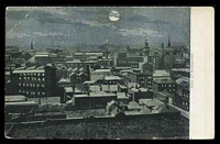 Lot 53:Australia - Victoria: multi-coloured PPC 'View of Melbourne', unusual night time scene, early card with undivided back.