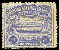 Lot 27460:1907 Large Canoe SG #1 ½d ultramarine.