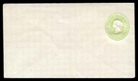Lot 11469:1886 1d Green Stieg #KB8 on white.