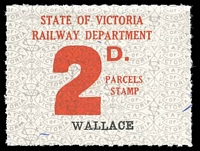 Lot 1841:1941-53 Ninth Series - Second Issue 2d red on white issued for Wallace.