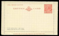 Lot 681:1930-39 2d Red KGV Sideface New Design 'TO OPEN THIS LETTERCARD' BW #LC64 2d red on white.