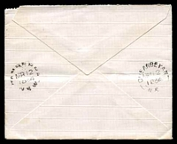 Lot 865 [2 of 2]:1884 cover to Canberra with 2d QV tied by fine '38' in rays cancel of Queanbeyan with Canberra backstamp MR12/1884, early Canberra cover.