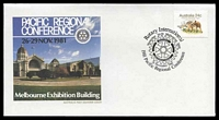 Lot 963:1981 Rotary International Pacific Regional Conference illustrated cover with adhesive tied by Pictorial cancel Melbourne 26 November 1981, unaddressed.