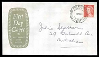 Lot 916:APO 1966 4c Red QEII tied to FDC by Russell Street cds 14 FE66.