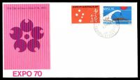 Lot 451:APO 1970 Expo set on illustrated FDC by Russell Street Philatelic cds 16MR70, unaddressed.