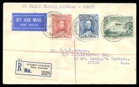 Lot 816:1930 Fitzroy Crossing - Perth AAMC #165a registered cover with adhesives tied by Fitzroy Crossing cds 15 JL 30 and Broome 17 JL 30 and Perth 21 JUL 30 fine Intermediate.