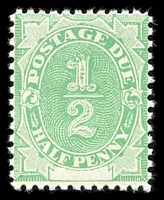Lot 3931:1902 Converted NSW Plates BW #D1 ½d emerald.